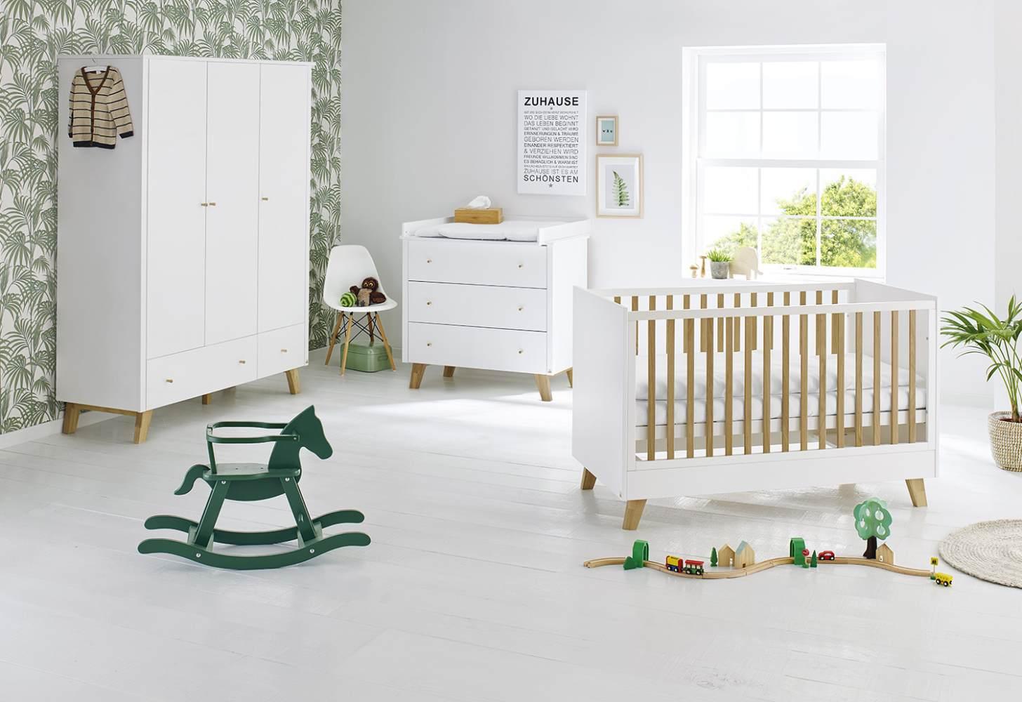 Pinolino 'Pan' 3-tlg. Babyzimmer-Set weiß, 3-türig Bild 1