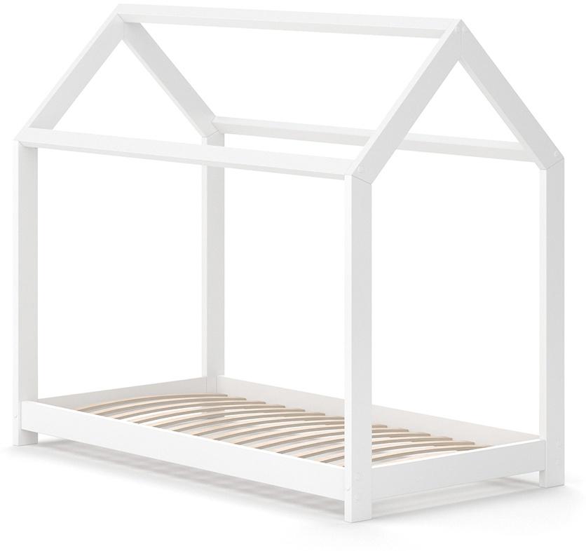 VitaliSpa 'Wiki' Hausbett 70x140 cm weiß, inkl. Lattenrost Bild 1