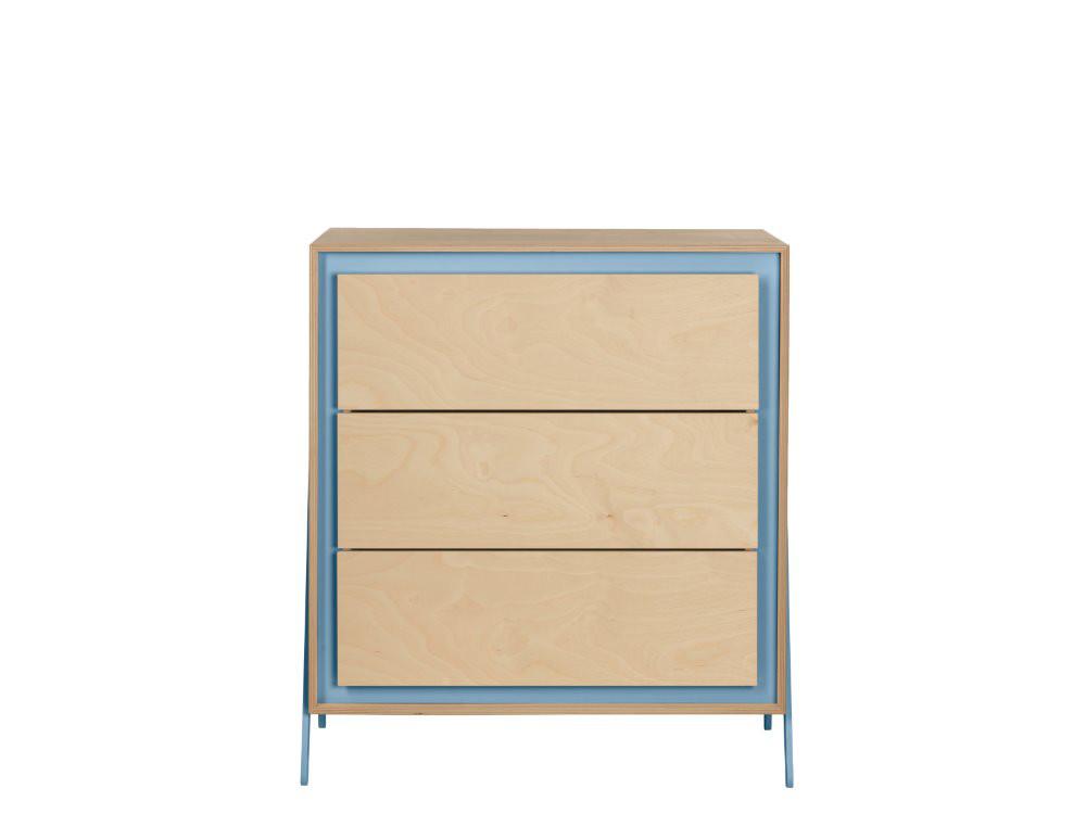 In2wood Kommode mit 3 Schubladen Square Blue Bild 1