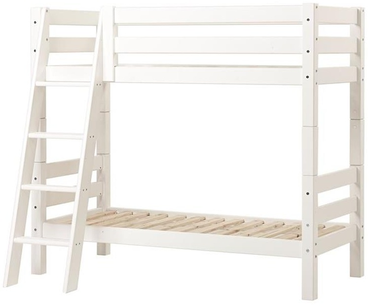Hoppekids 'Premium' Etagenbett schräge Leiter, 70 x 160 cm, inkl. Rollroste Bild 1