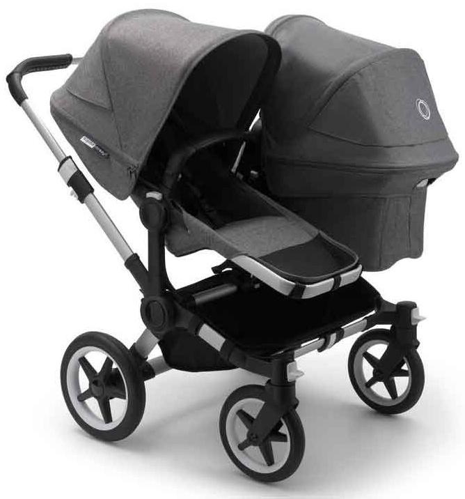 Bugaboo 'Donkey3 Duo' Geschwisterwagen Grau inkl. Babyschale, Babywanne und Adapter Bild 1