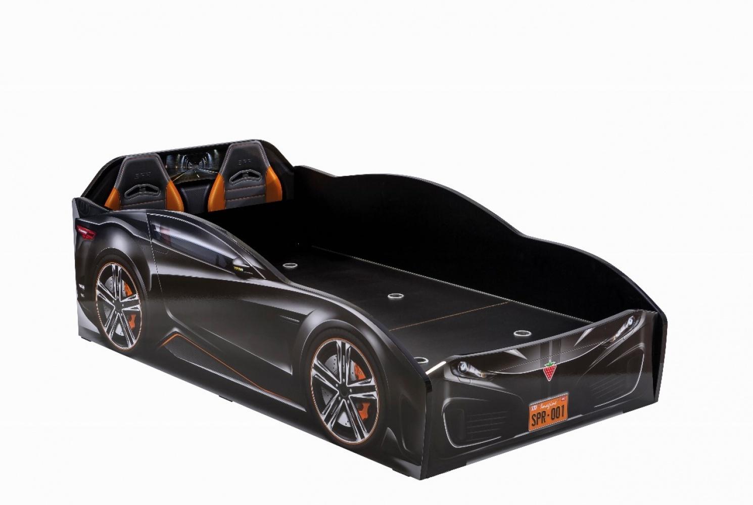 Cilek 'Spyder' Autobett schwarz inkl. Matratze Bild 1