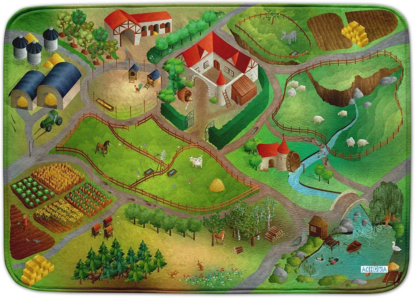House Of Kids 86005-E3 - Playmat Ultra Soft Ferme Connect, 130 x 180 cm Bild 1