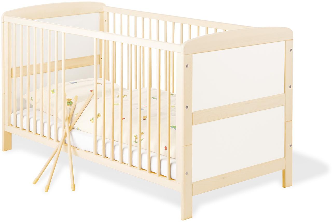 Pinolino 'Florian' Kombi-Kinderbett natur 70x140 cm, umbaubar Bild 1
