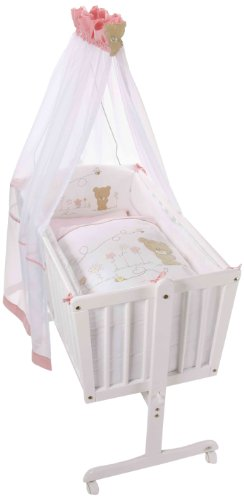 Easy Baby Komplettwiege Weiß - Honey Bear Rose Bild 1