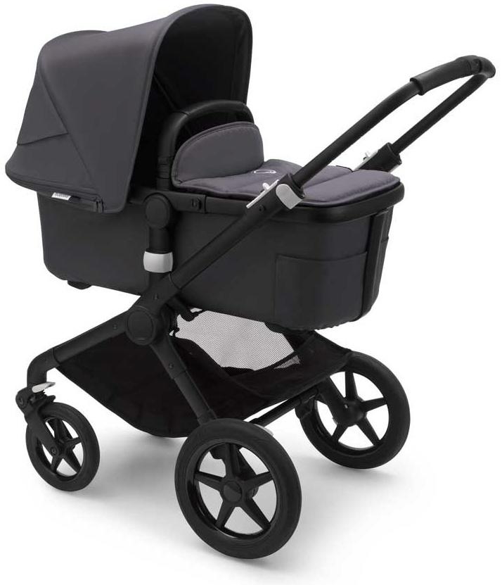 Bugaboo 'Fox2' Kombikinderwagen Schwarz inkl. Babyschale, Babywanne und Adapter Bild 1