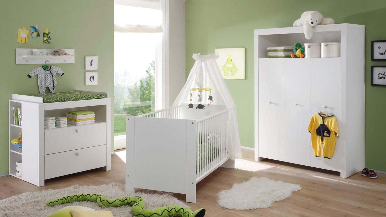 Trendteam 'OLIVIA' 4-tlg. Babyzimmer-Set weiß Bild 1