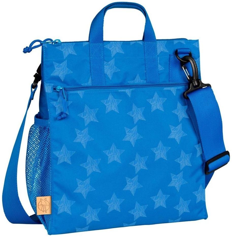 LÄSSIG Baby Wickeltasche Kinderbuggytasche Buggy Tasche Kinderwagen/Casual Buggy Bag Reflective Star, blau Bild 1