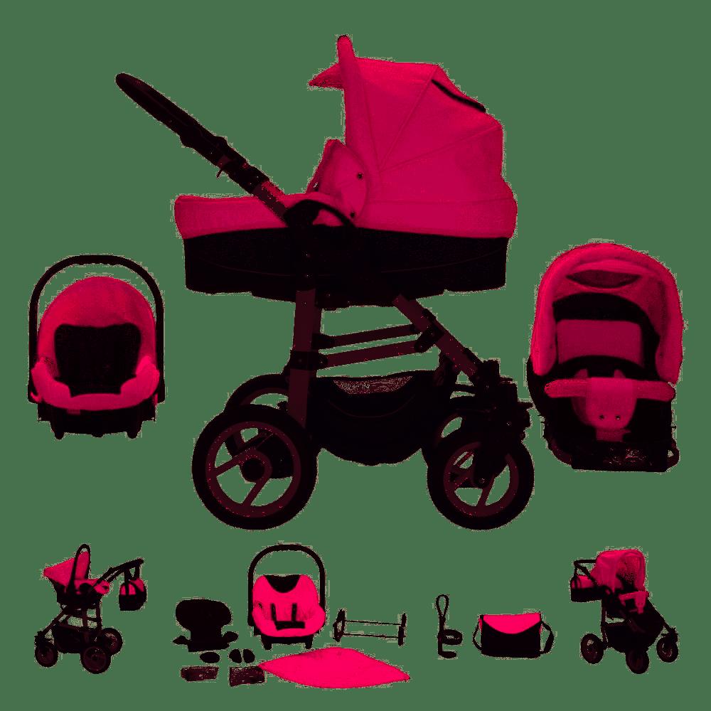 Bebebi Paris - 3 in 1 Kinderwagen Komplettset Élysée Roues moussant Bild 1