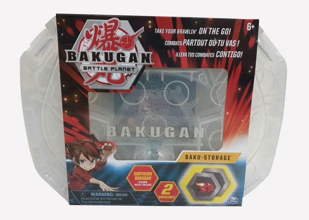 Bakugan 20115350 - Storage Case Weiss, Aufbewahrungskoffer mit Gorthion Bakugan Bild 1