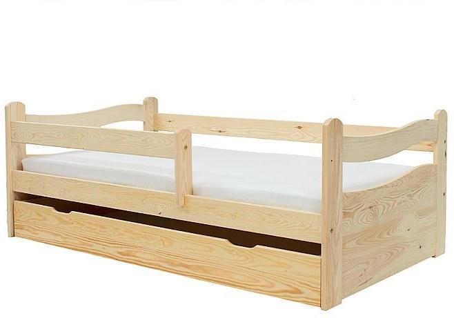 Kinderbettenwelt 'Abby' Kinderbett 80x160 cm, Natur, inkl. Lattenrost, Matratze und Schublade Bild 1