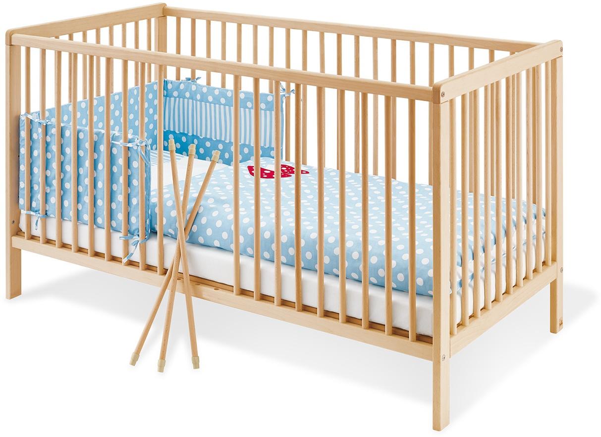 Pinolino 'Hanna' Kinderbett, natur, 70 x 140 cm, mit Schlupfsprossen, Lattenrost 3-fach höhenverstellbar Bild 1