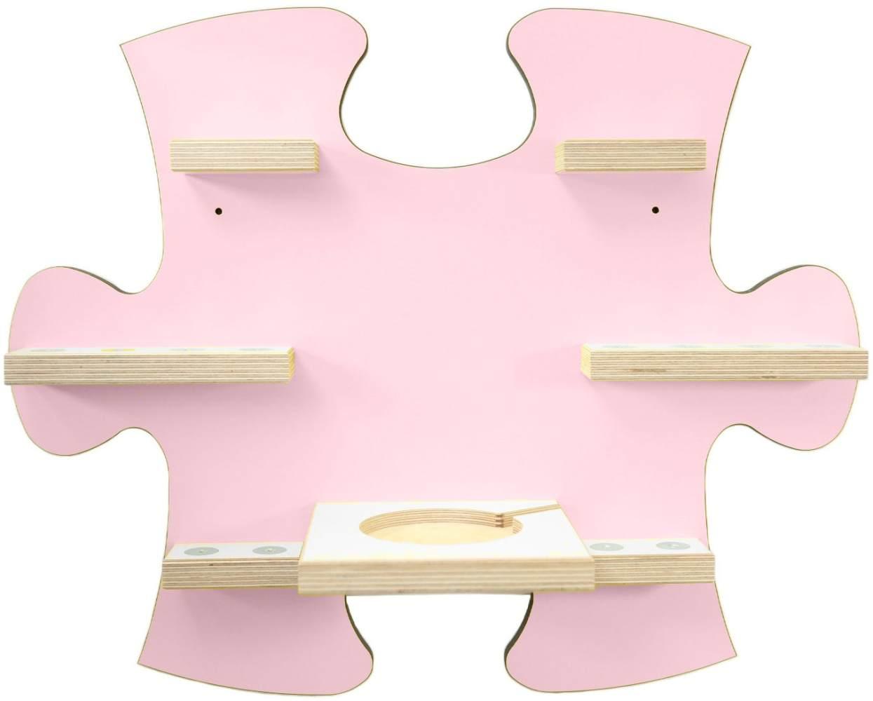 Schreinerei Linden 'Puzzle B' Tonie Regal mit Ladestation, rosa Bild 1