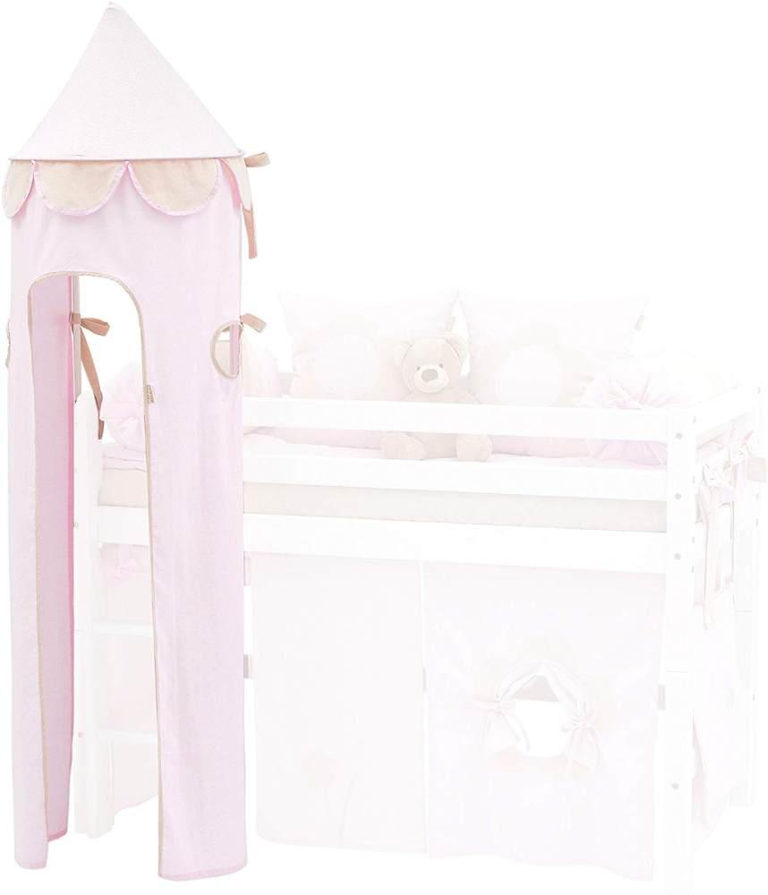 Hoppekids für Halbhochbett, Spielbett, Hochbett, inkl Gestell, hellrot, Textil, Fairytale Flower, 45 x 45 x 185 cm Bild 1