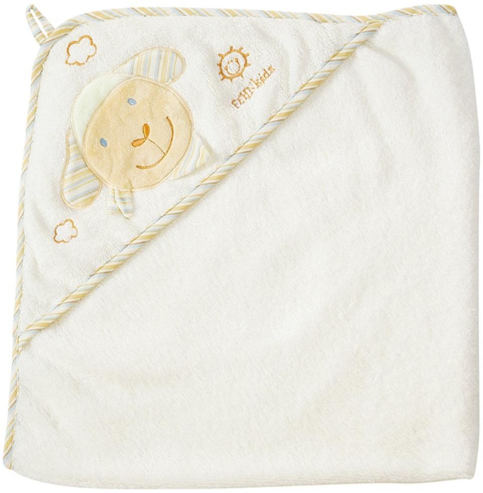 Fehn 397086 Kapuzenbadetuch BabyLOVE - Bade-Poncho aus Baumwolle mit niedlichem Schaf für Babys und Kleinkinder ab 0+ Monaten - Maße: 80 x 80 cm Bild 1