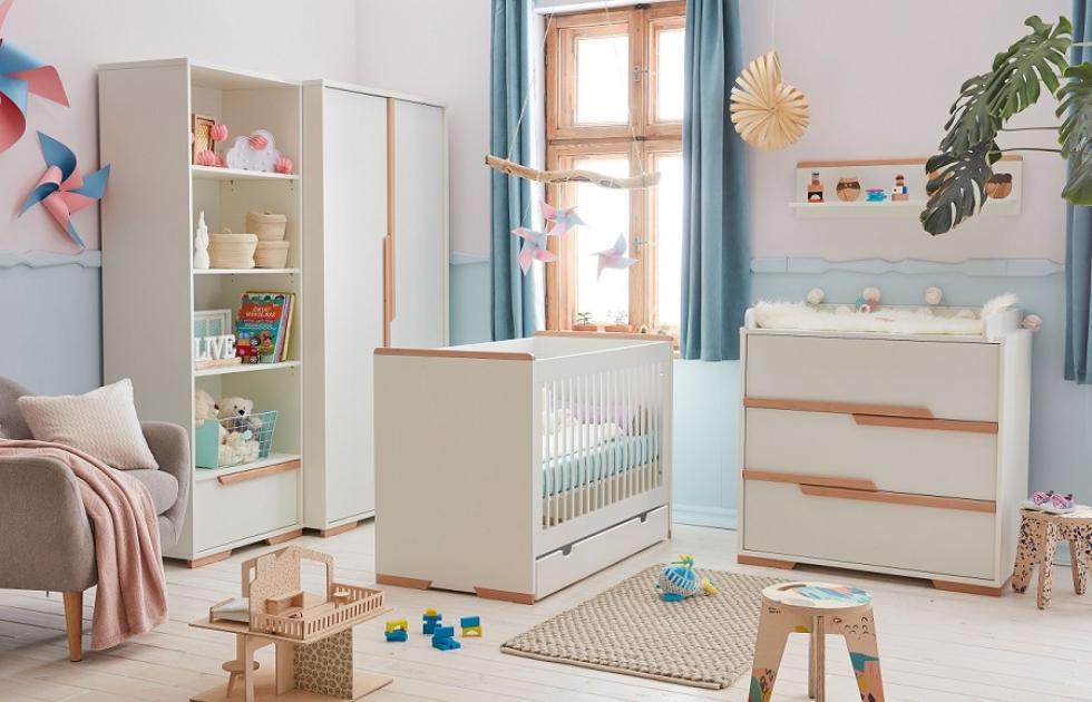 4-tlg. Babyzimmer-Set 'Spring' weiß Bild 1