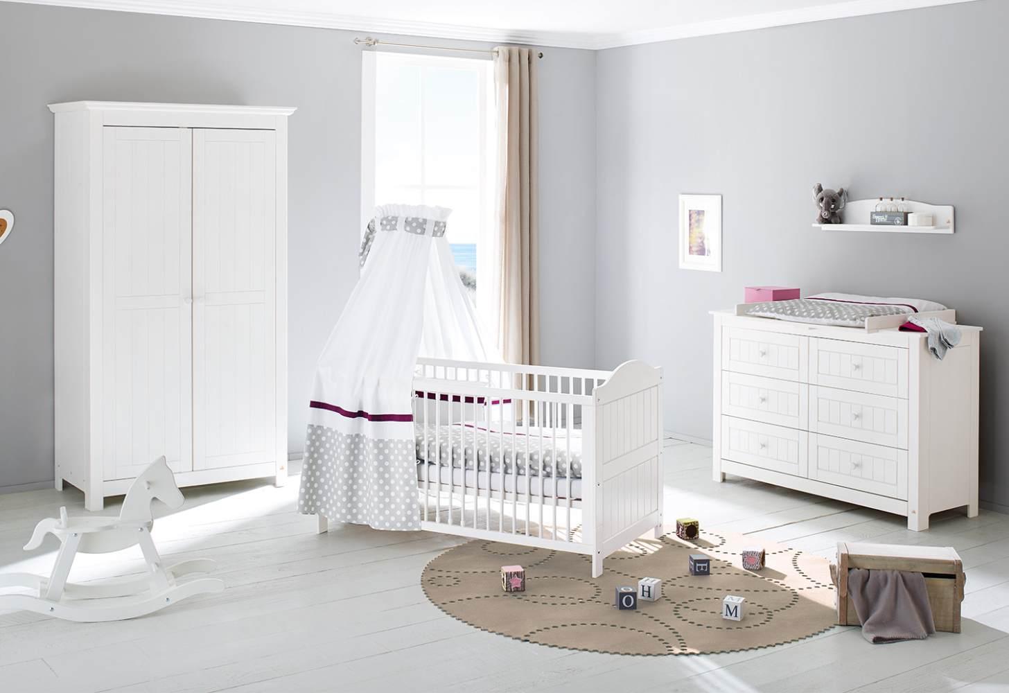 Pinolino 'Nina' 3-tlg. Babyzimmer-Set weiß, breit Bild 1