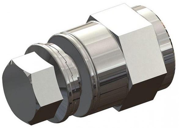 Croozer Unisex– Erwachsene Achskupplungsadapter-3092019213 Achskupplungsadapter, grau, One Size Bild 1