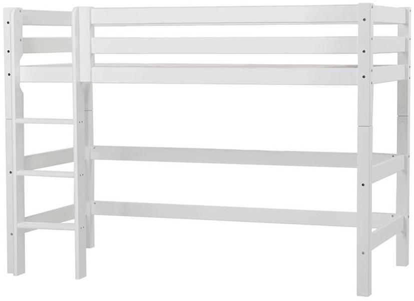 Hoppekids 'Premium' Hochbett 90x200 cm, weiß, inkl. Lattenrost, gerade Leiter, nachhaltig Bild 1