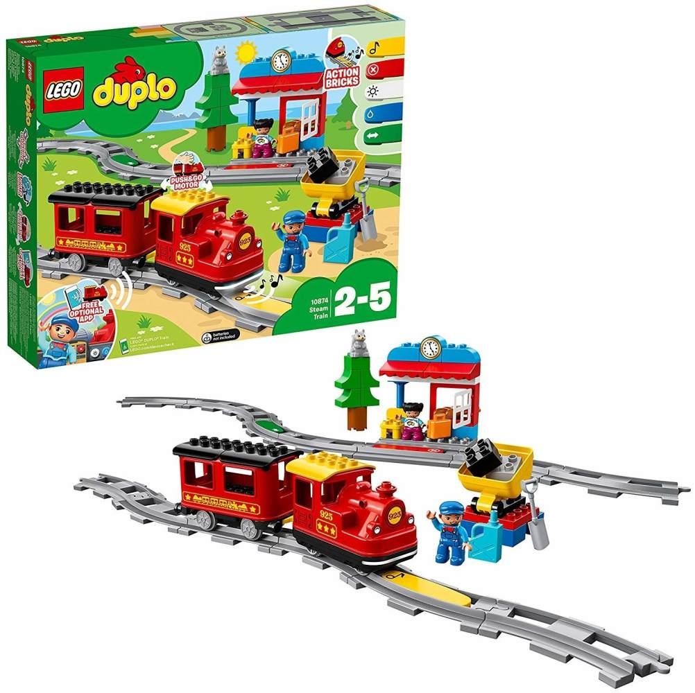 LEGO Duplo 10874 'Dampfeisenbahn', 59 Teile, ab 2 Jahren Bild 1