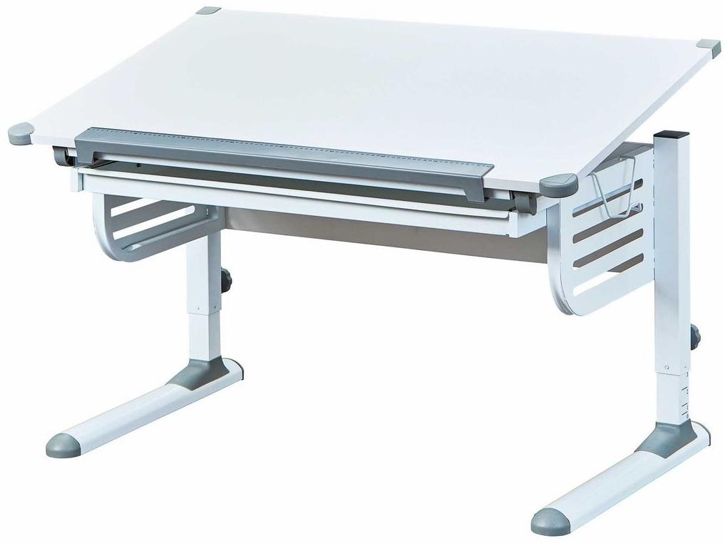 Kinderschreibtisch 'Skalare' mit Schublade weiß Bild 1