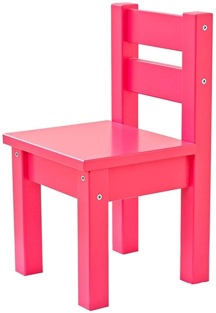 Hoppekids MADS, teilmassiv sehr stabil, viele Farben, Holz, rosa, 28 x 28 x 50 cm Bild 1