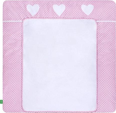 LULANDO 'White Dots/Pink' Wickelauflage 75 x 85 cm weiß/rosa Bild 1