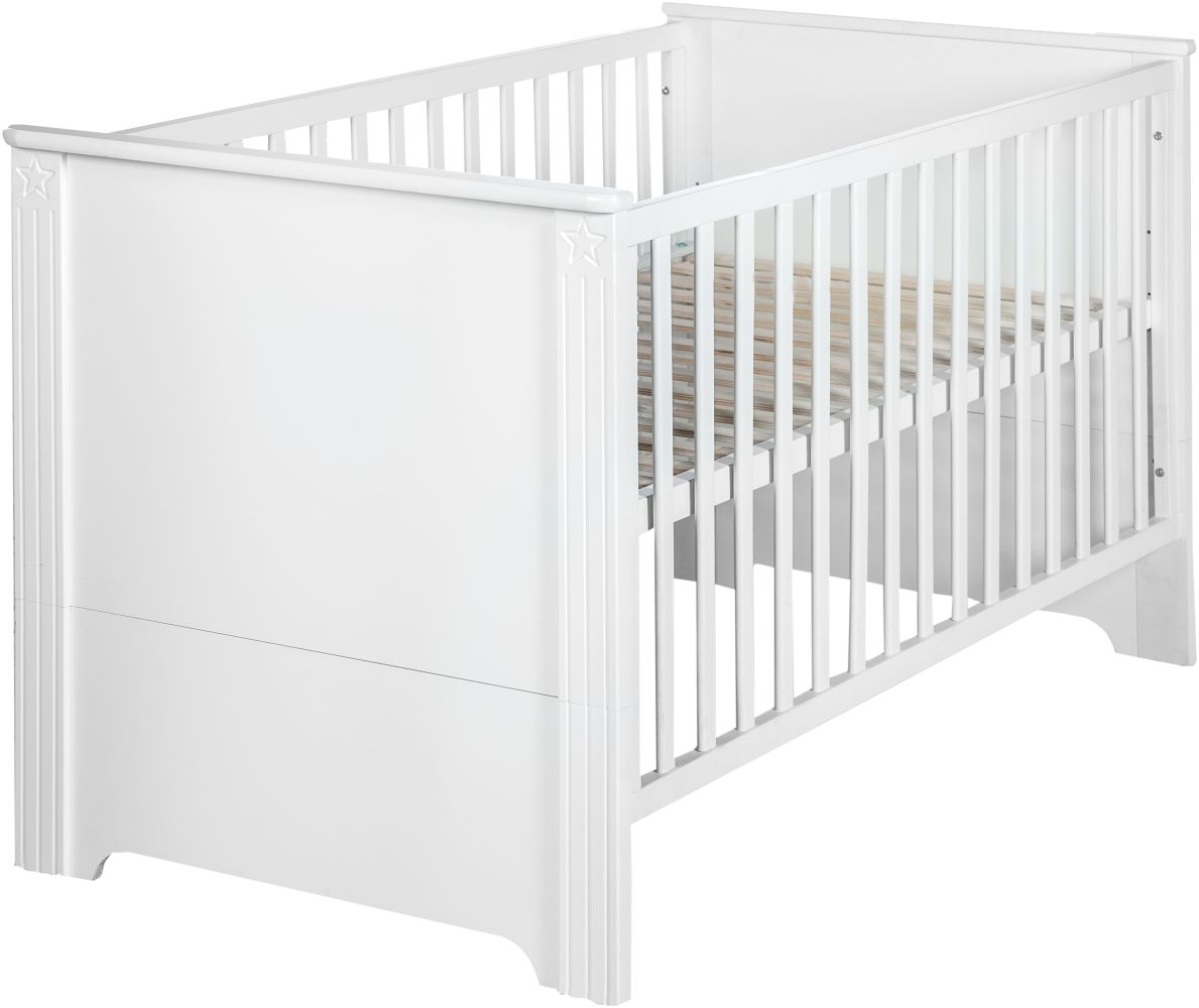Roba 'Maxi' Kombi-Kinderbett weiß, 70 x 140 cm, 3-fach höhenverstellbar Bild 1