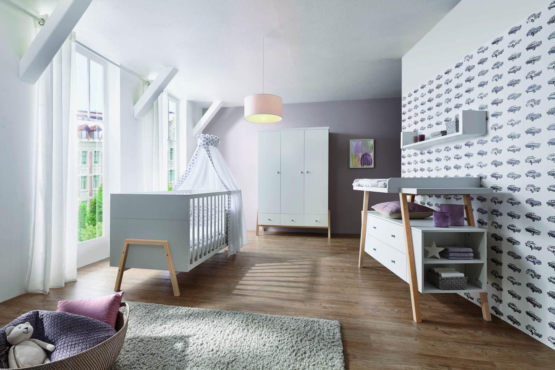 Schardt 'Holly Nature' 3-tlg. Babyzimmer-Set Schrank 3-türig Bild 1