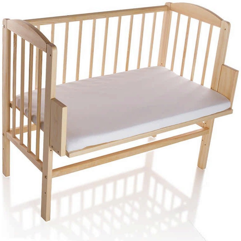 Babyblume 'Maria' Beistellbett Kiefer inkl. Matratze 90x55cm Bild 1