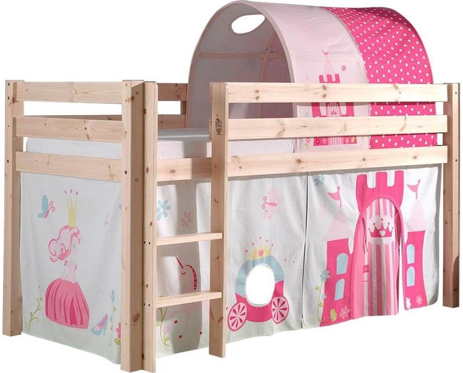 """Spielbett Pino mit Textilset Vorhang und Tunnel """"Princes"""" Bild 1"""