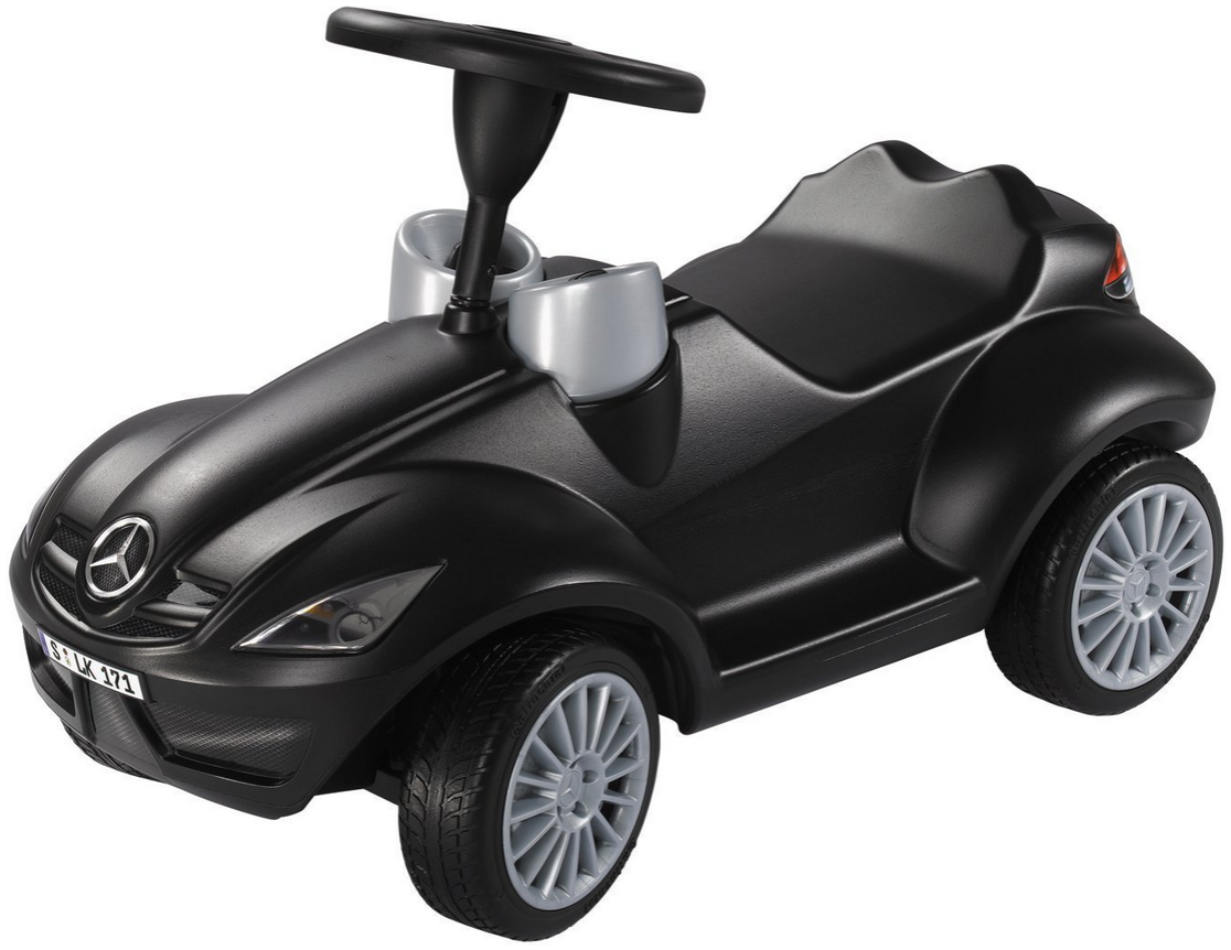 BIG 800056342 'SLK-Bobby-Benz' Rutscher ab 12 Monaten, bis 35 kg belastbar, schwarz Bild 1