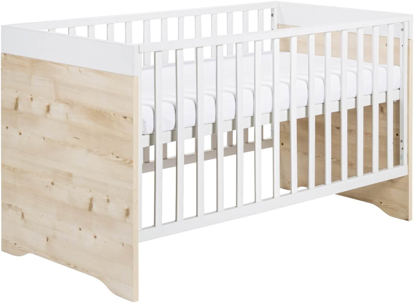 Schardt 'Timber Pinie' Kombi-Kinderbett weiß/natur Bild 1