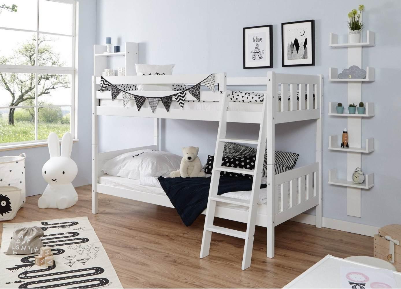 Ticaa 'Erni' Etagenbett Vertikal Buche Weiß Bild 1
