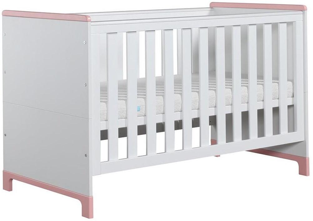 Pinio 'Mini' Kombi-Kinderbett weiß / rosa Bild 1