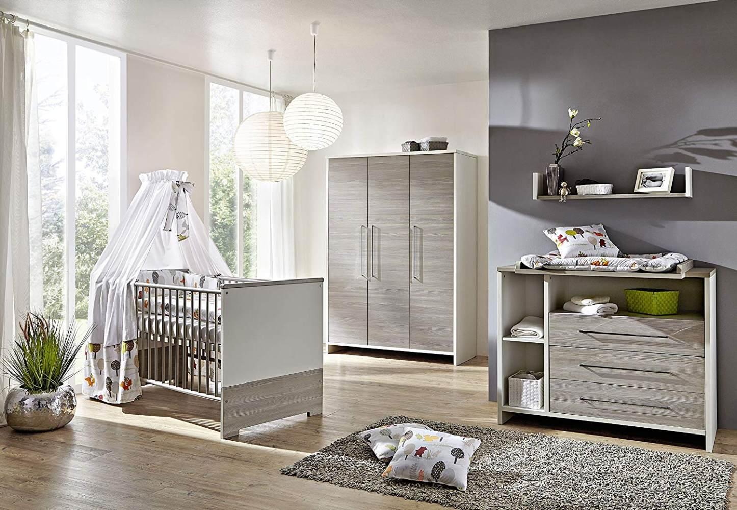 Schardt 'Eco Silber' 3-tlg. Babyzimmer-Set Schrank 3-türig Bild 1