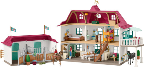 Schleich 'Horse Club' Großer Pferdehof mit Wohnhaus und Stall Bild 1