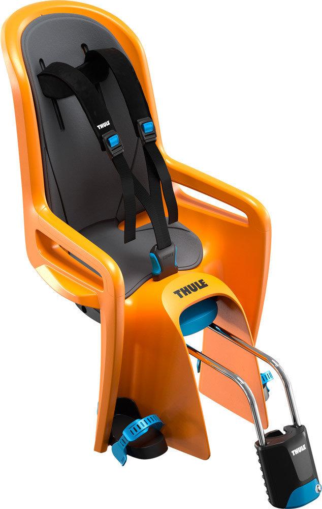 Thule 'RideAlong' Kinderfahrradsitz orange, bis 22 kg, inkl. Rahmenhalterung Bild 1