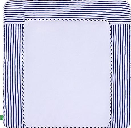 LULANDO 'Blue Stripes' Wickelauflage 75 x 85 cm blau/weiß Bild 1