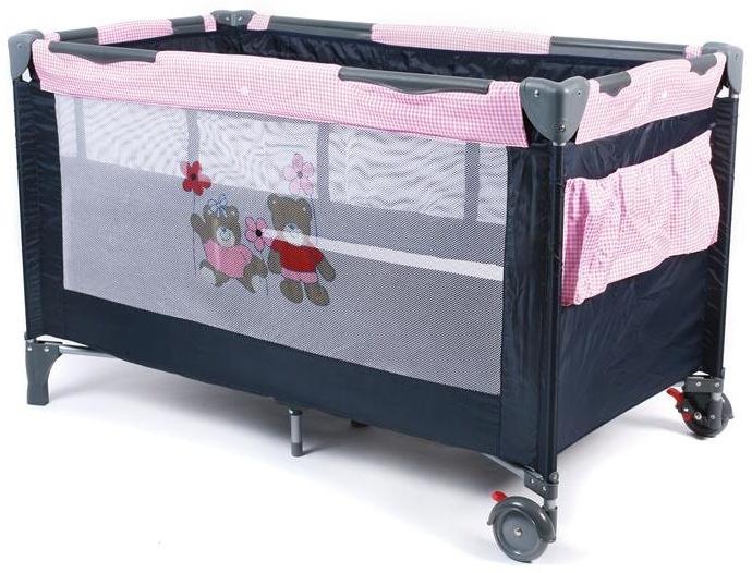 Chic 4 Baby 'Luxus Pink Checker' Reisebett schwarz / pink Bild 1