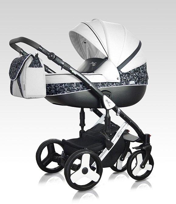Milu Kids Kombikinderwagen Starlet Next 3in1 STA-54 weiß/schwarz/Muster Bild 1