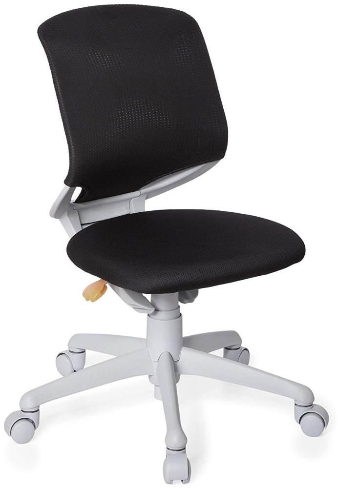 hjh OFFICE 712000 Kinder-Schreibtischstuhl Kid Move Grey Netzstoff Schwarz/Grau Drehstuhl ergonomisch, Rückenlehne verstellbar Bild 1