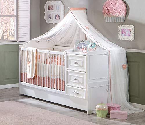 Cilek 'Romantic' Babybett inkl. Zubehör weiß Bild 1