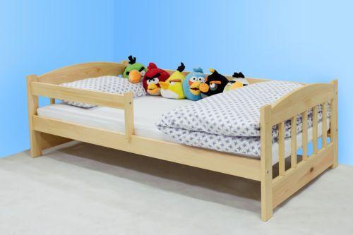Kinderbettenwelt 'Maja' Kinderbett 80x160 cm, Natur, inkl. Matratze und Schublade Bild 1