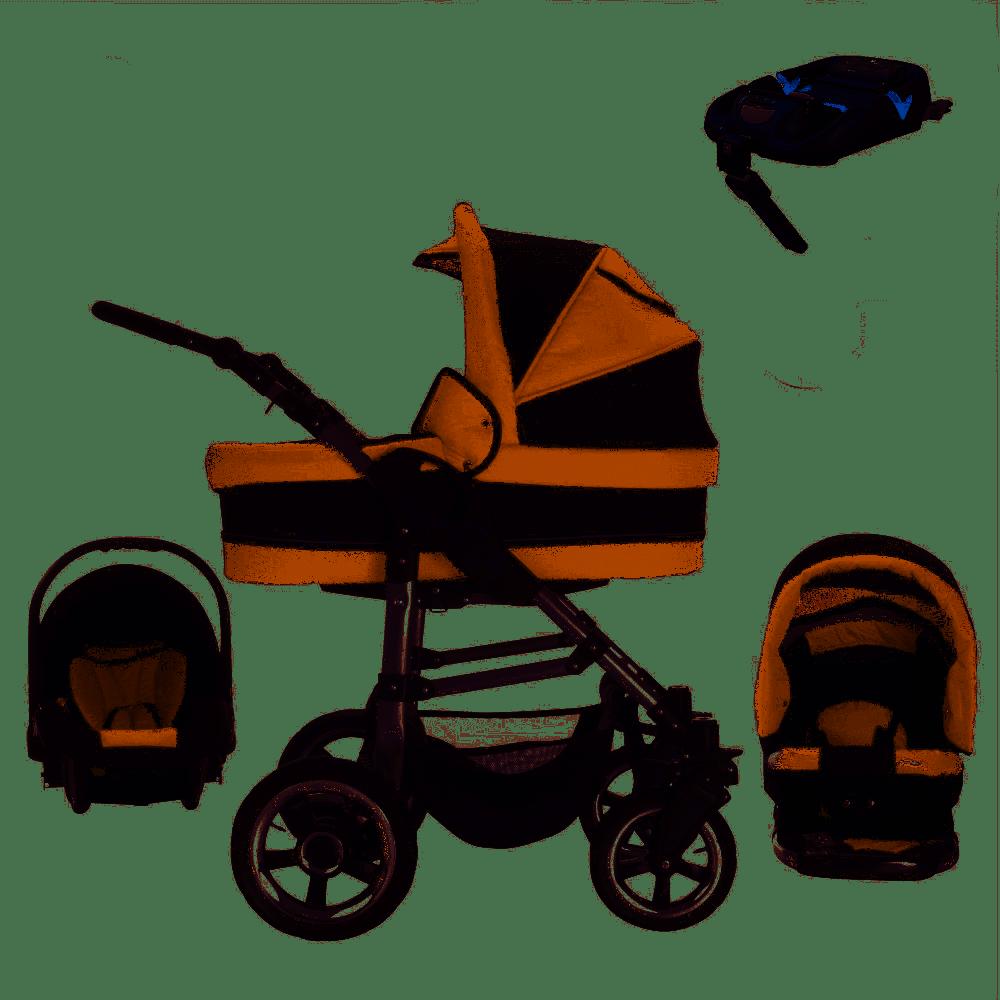 Bebebi London - Isofix Basis und Autositz - 4 in 1 Kinderwagen Set St. Paul's Foam Wheels Bild 1