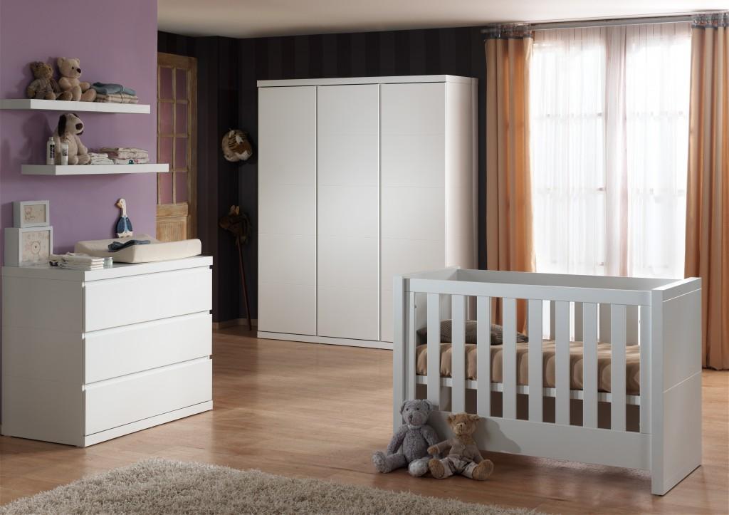 Vipack 'Lara' 4-tlg. Babyzimmer-Set weiß Bild 1