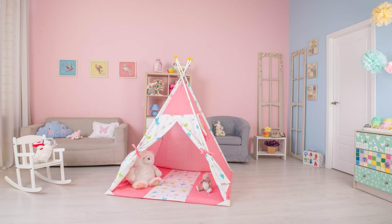 Polini Kids Tipi inkl. Tasche rosa Bild 1