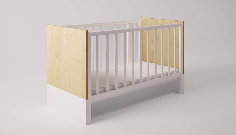 Polini Kids Kombi-Kinderbett 'Classic' weiß / blau Bild 1