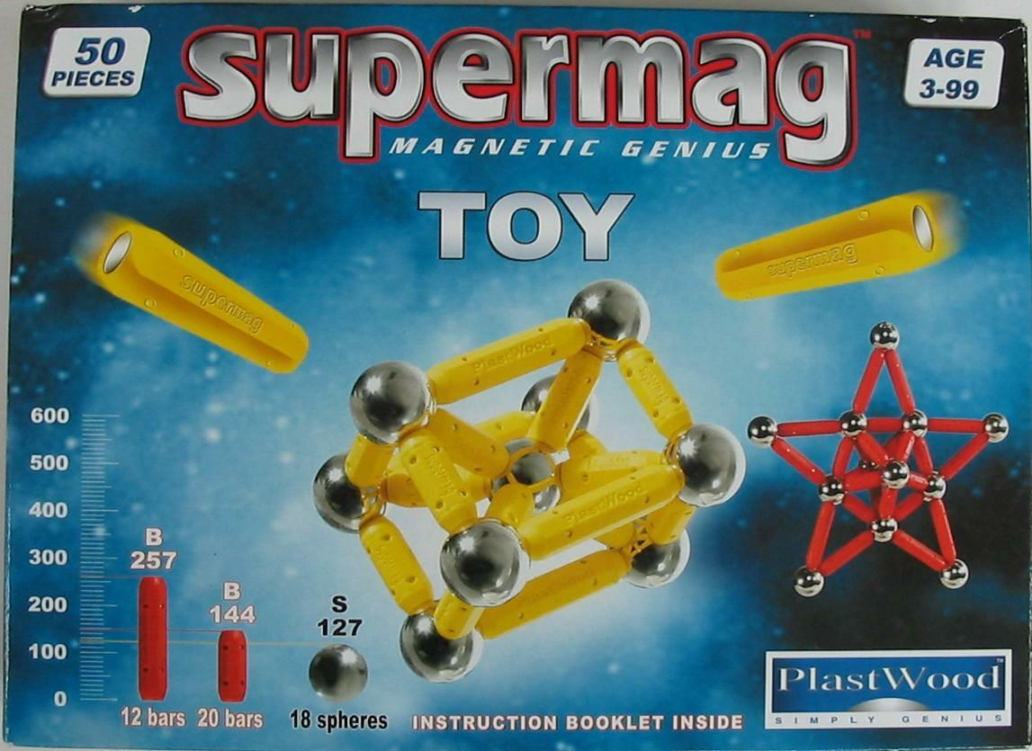 Supermag Magnet-Konstruktionskasten Toy 50 (Farbe: Weiß) Bild 1