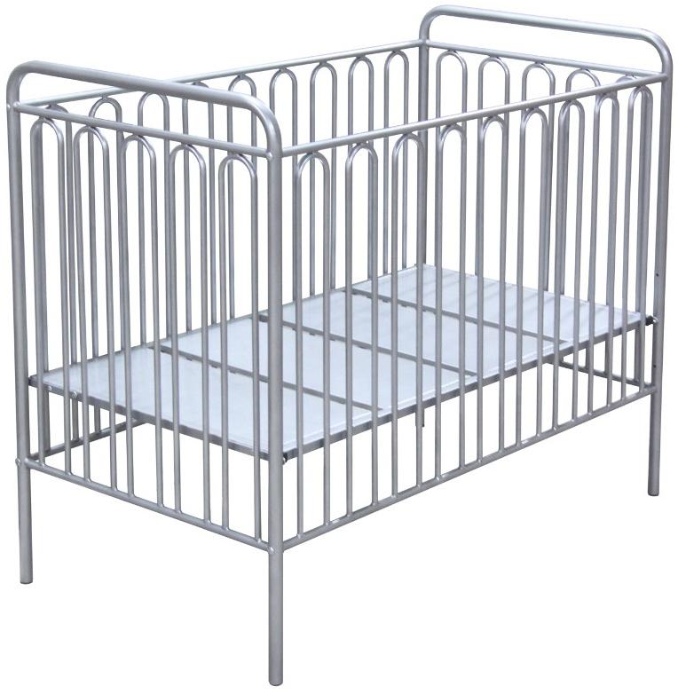 Kinderbett Gitterbett Babybett aus Metall Polini Vintage 150 silber Bild 1